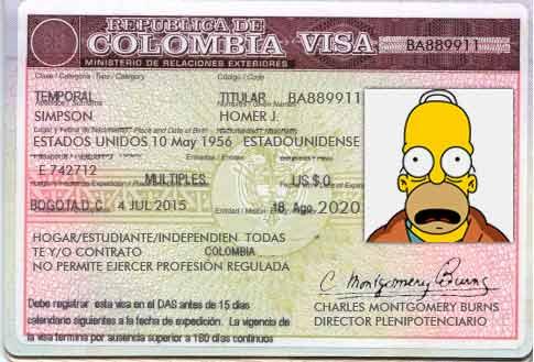Visas para Colombia