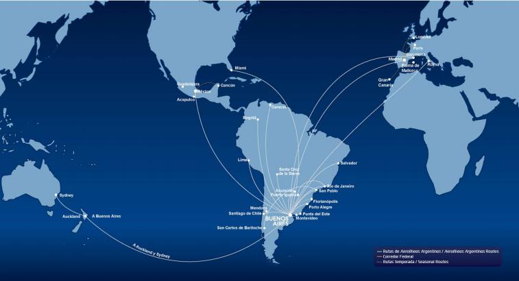 Aerolíneas internacionales con destinos en Colombia