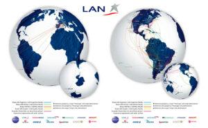 Mapa de rutas LAN Airlines